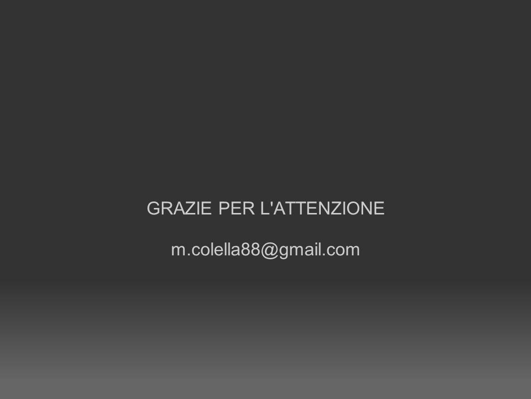 GRAZIE PER L ATTENZIONE m.colella88@gmail.com
