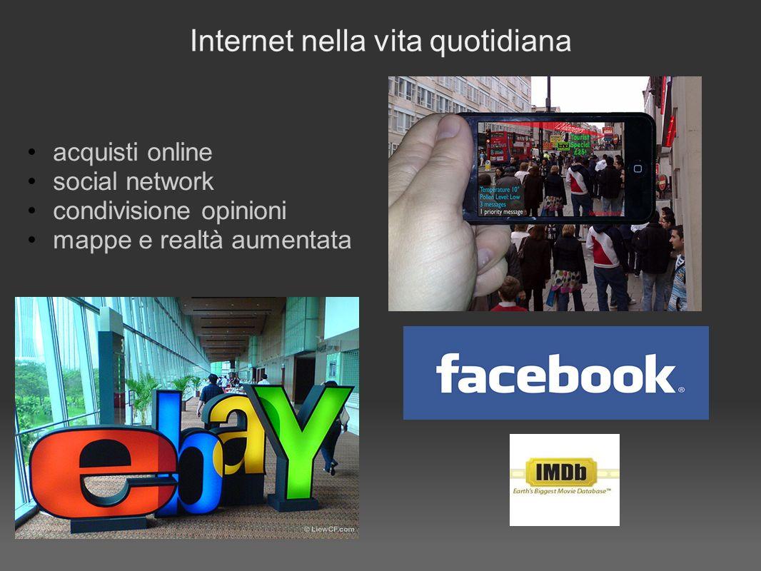 Internet nella vita quotidiana acquisti online social network condivisione opinioni mappe e realtà aumentata
