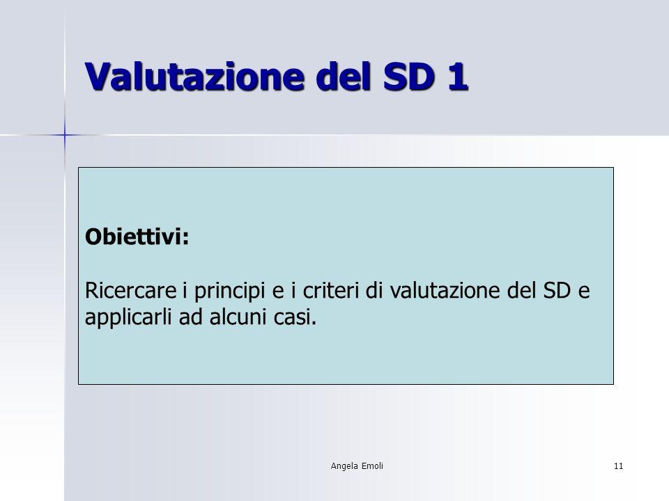 Angela Emoli10 Reperimento informazioni SD Obiettivi: Individuare, accedere e consultare le principali fonti di informazione sul software didattico disponibile.