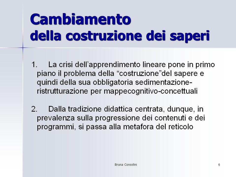 Bruna Consolini6 Cambiamento della costruzione dei saperi