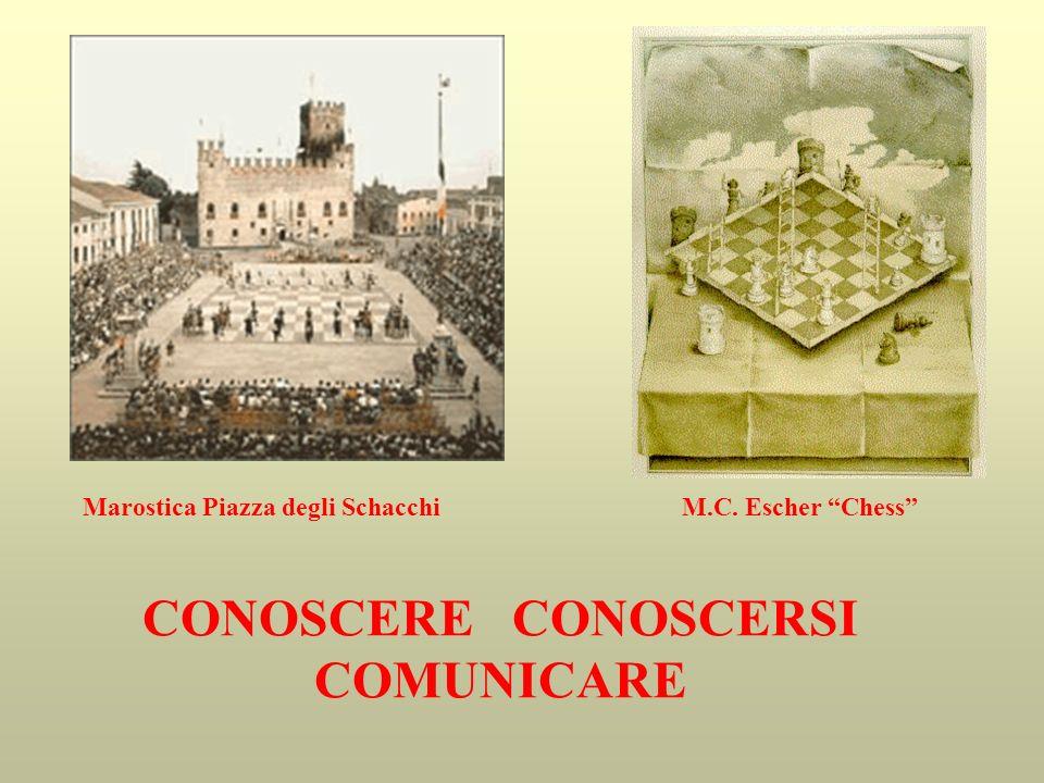 Marostica Piazza degli Schacchi M.C. Escher Chess CONOSCERE CONOSCERSI COMUNICARE