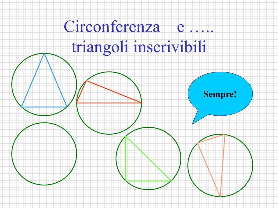 Circonferenza e ….. triangoli inscrivibili Sempre!