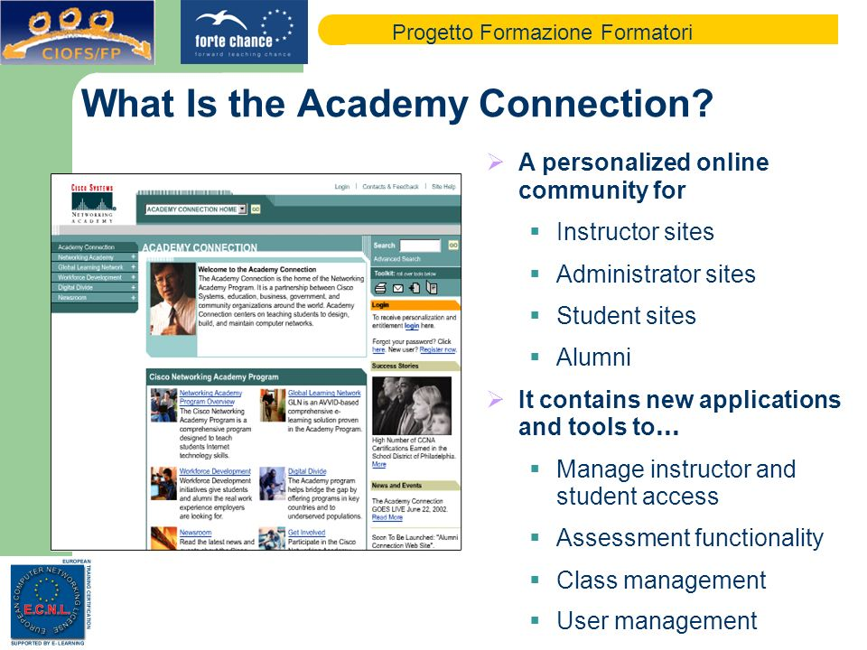 Progetto Formazione Formatori What Is the Academy Connection.
