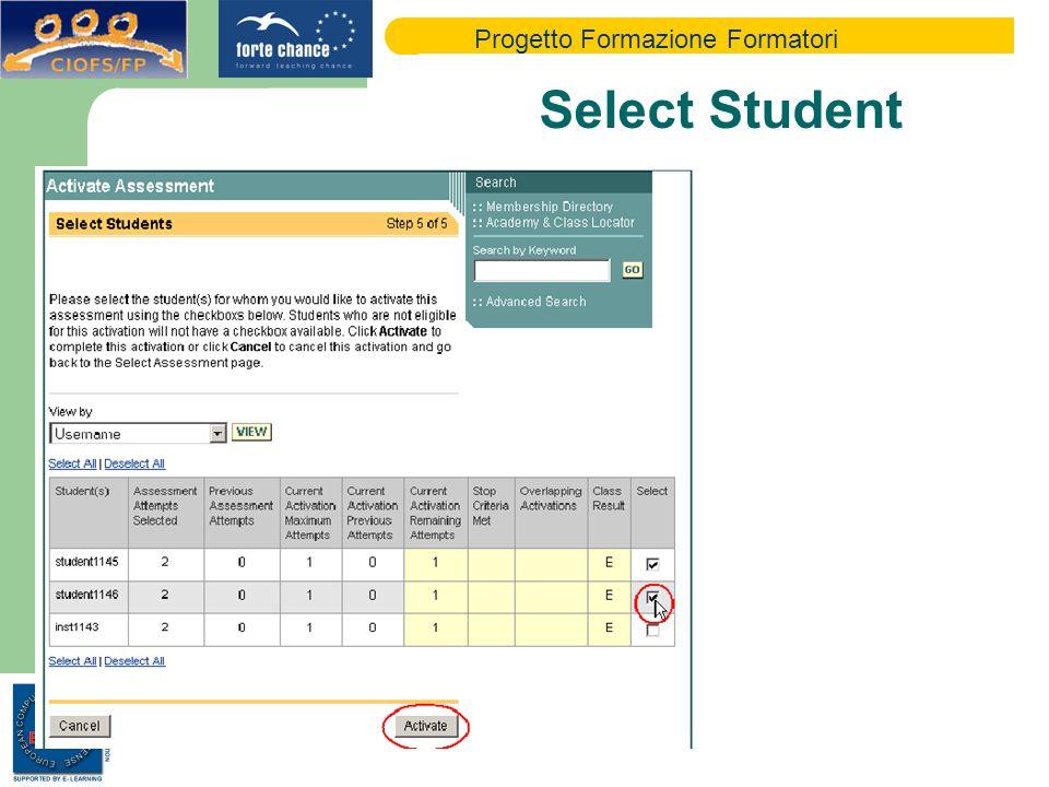 Progetto Formazione Formatori Select Student