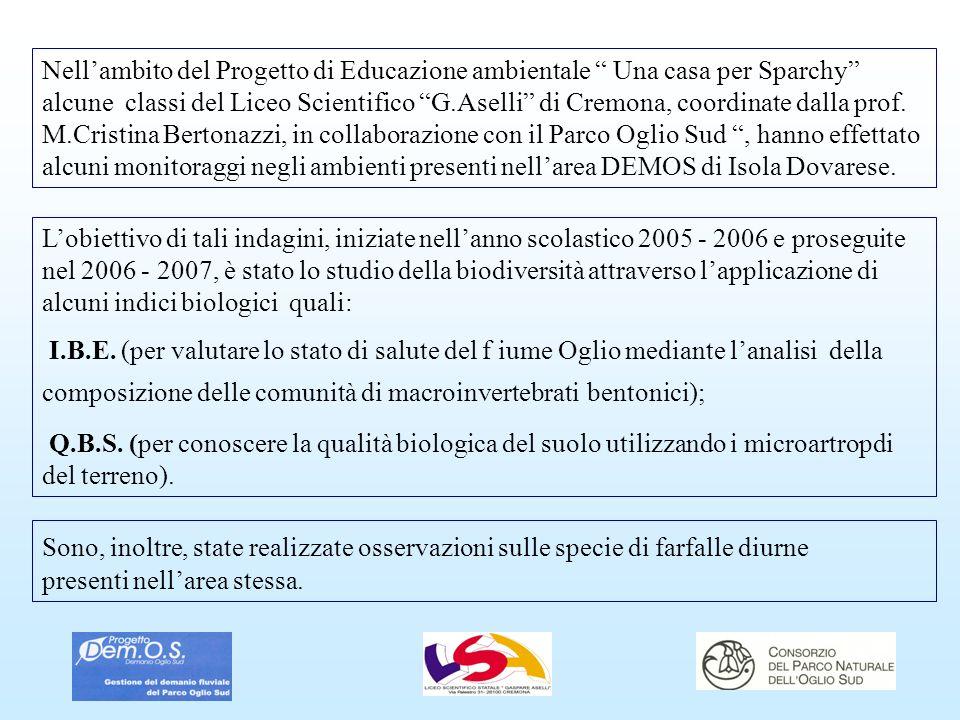 Nellambito del Progetto di Educazione ambientale Una casa per Sparchy alcune classi del Liceo Scientifico G.Aselli di Cremona, coordinate dalla prof.