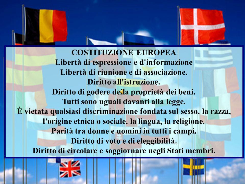 COSTITUZIONE EUROPEA Libertà di espressione e d informazione Libertà di riunione e di associazione.