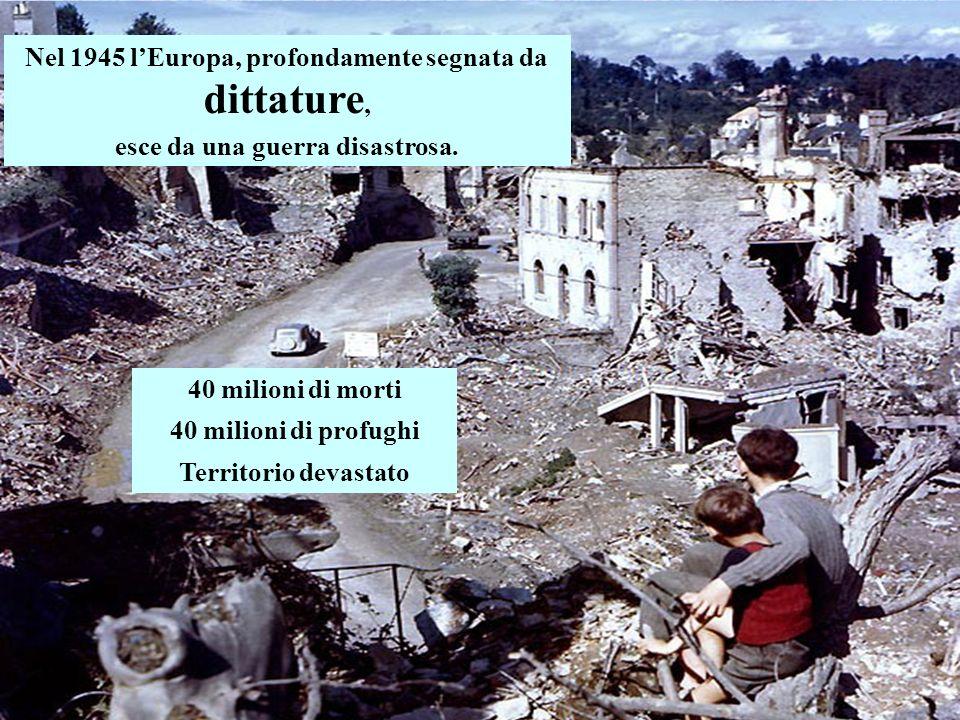 Nel 1945 lEuropa, profondamente segnata da dittature, esce da una guerra disastrosa.