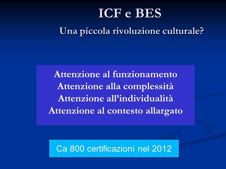 ICF e BES Una piccola rivoluzione culturale.