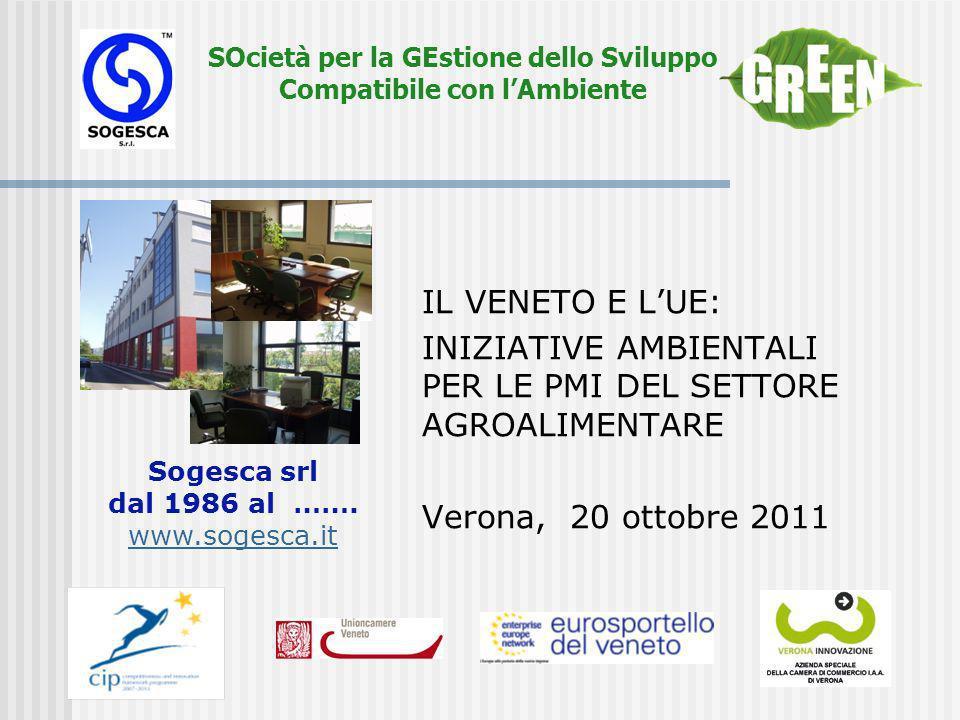 SOcietà per la GEstione dello Sviluppo Compatibile con lAmbiente Contenuti Ambiente, sicurezza, qualità, etica,…..