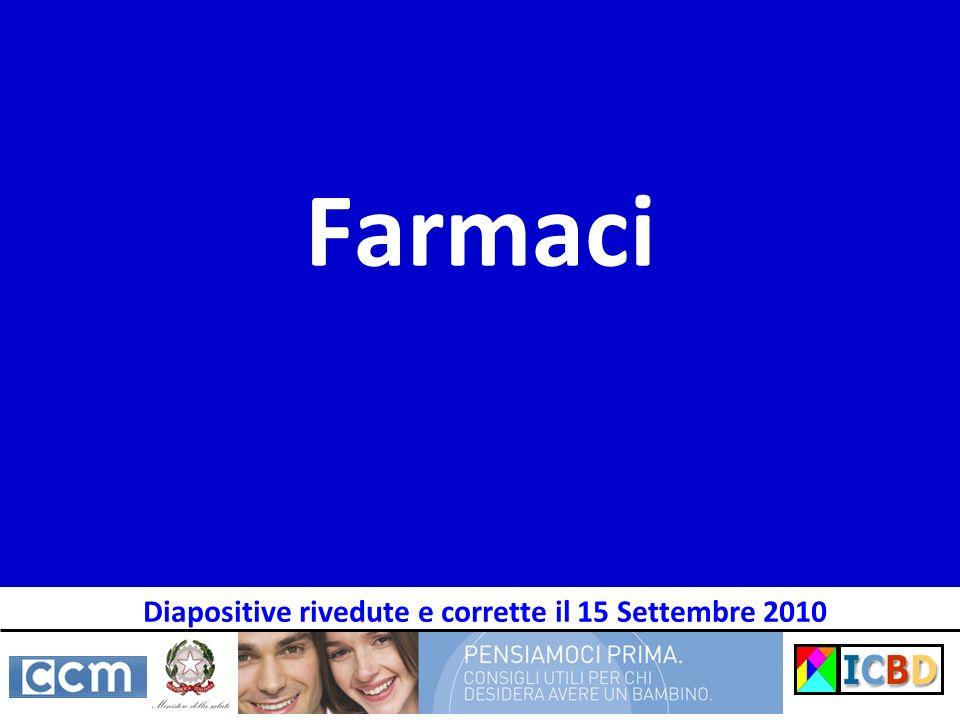 Farmaci Diapositive rivedute e corrette il 15 Settembre 2010