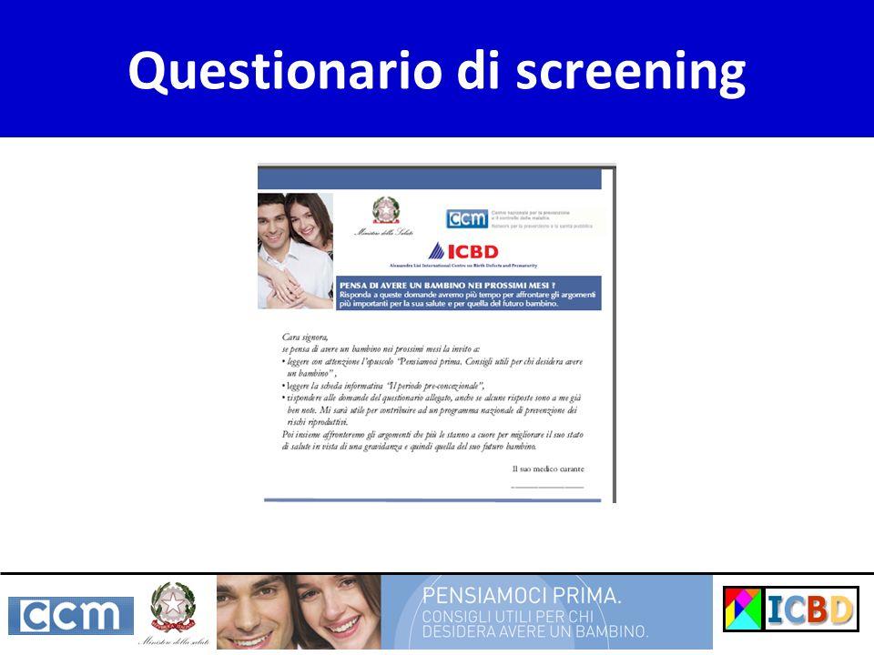 Questionario di screening