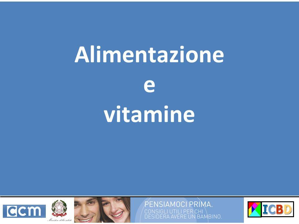 Alimentazione e vitamine