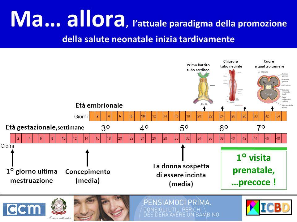 Ma… allora, lattuale paradigma della promozione della salute neonatale inizia tardivamente 16182022242628303234363840424446 246810 1214481618202224262