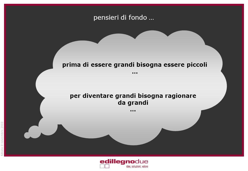 Milano 8 novembre 2008 … lasciamo la parola al Prof. Edoardo Sabbadin