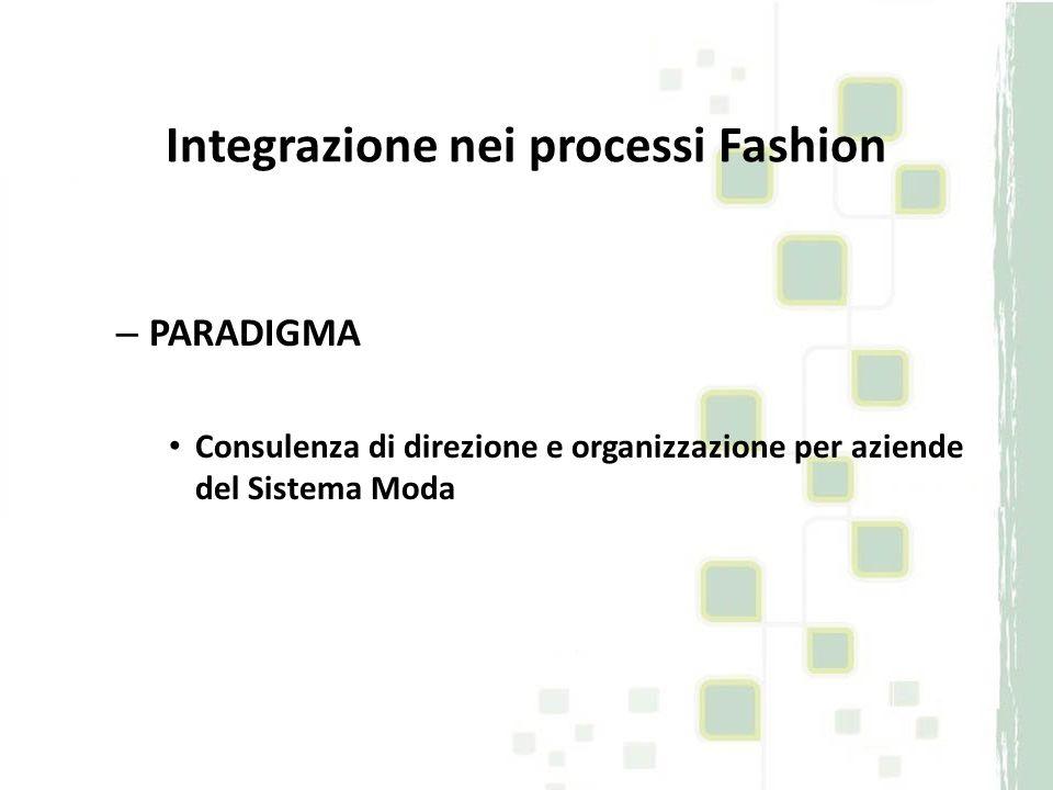 Integrazione nei processi Fashion – PARADIGMA Consulenza di direzione e organizzazione per aziende del Sistema Moda