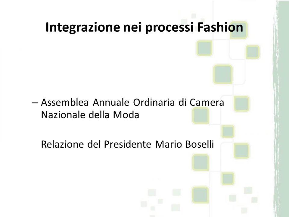 Integrazione nei processi Fashion Dove andare?