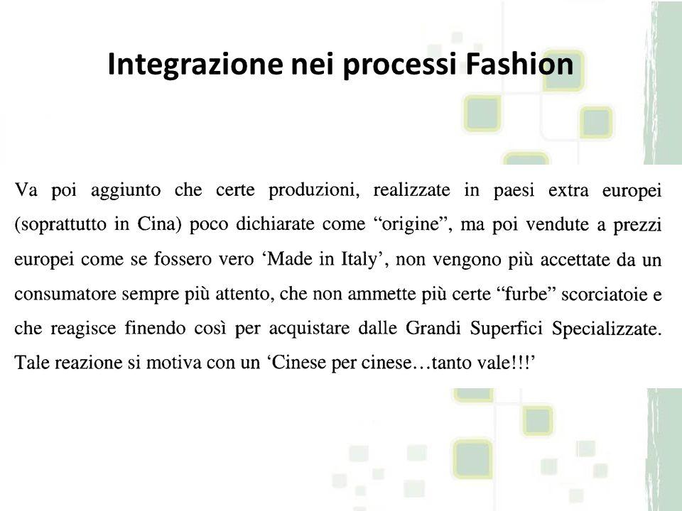 Integrazione nei processi Fashion Saldi ma soprattutto outlet: crescita a 2 cifre Consumatore vs.