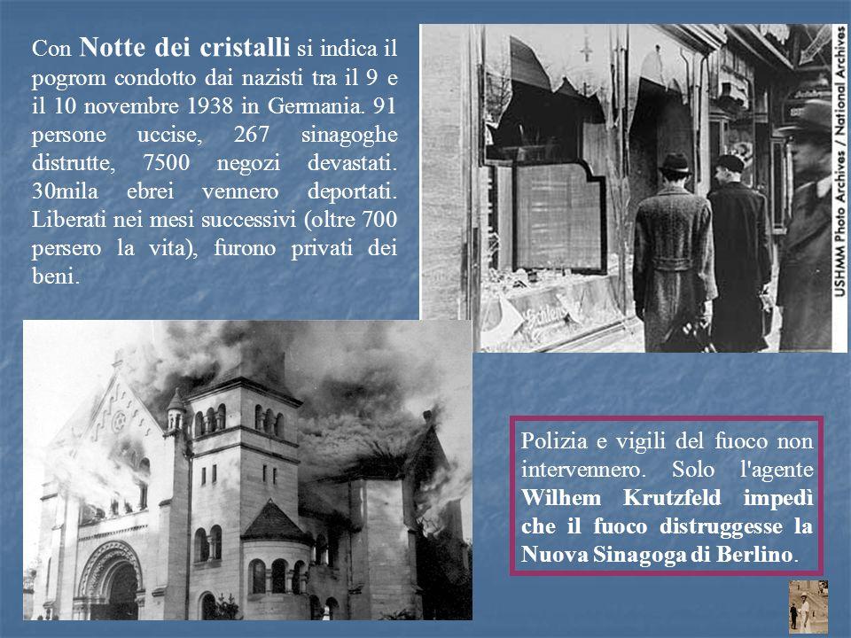Polizia e vigili del fuoco non intervennero. Solo l'agente Wilhem Krutzfeld impedì che il fuoco distruggesse la Nuova Sinagoga di Berlino. Con Notte d