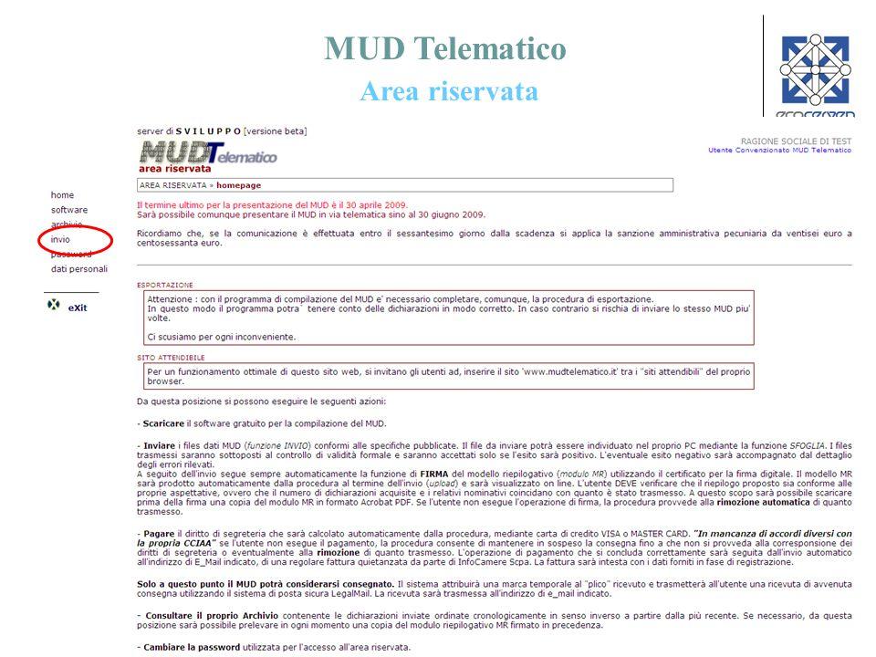 56 MUD Telematico Area riservata