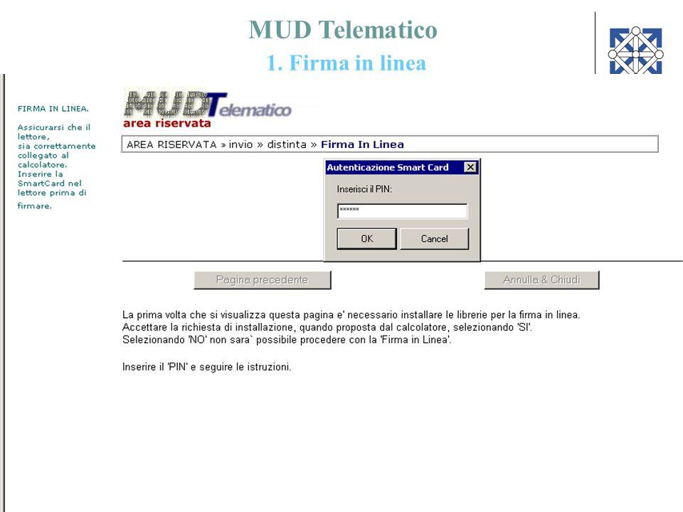 59 MUD Telematico 1. Firma in linea