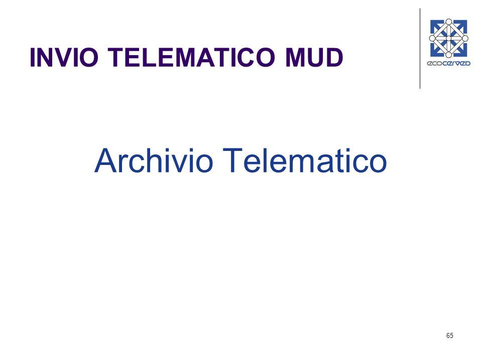65 INVIO TELEMATICO MUD Archivio Telematico