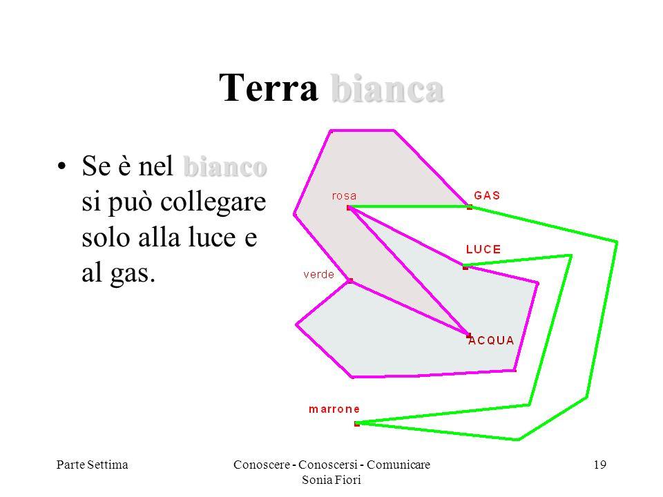 Parte SettimaConoscere - Conoscersi - Comunicare Sonia Fiori 19 bianca Terra bianca biancoSe è nel bianco si può collegare solo alla luce e al gas.