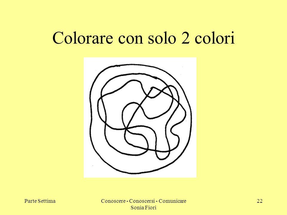Parte SettimaConoscere - Conoscersi - Comunicare Sonia Fiori 22 Colorare con solo 2 colori