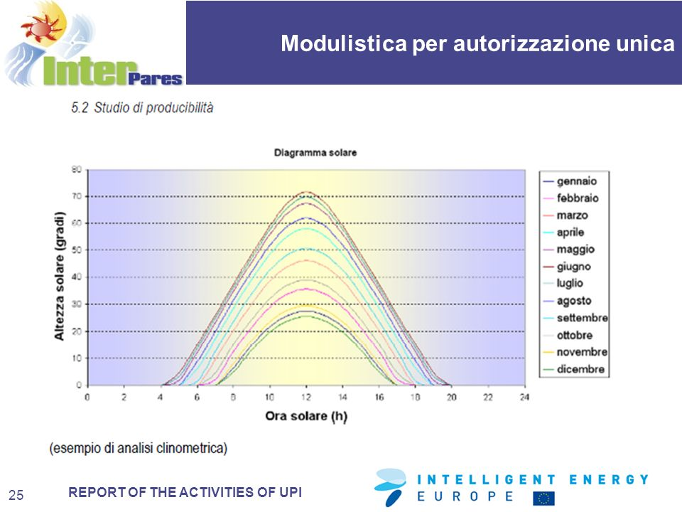 REPORT OF THE ACTIVITIES OF UPI Modulistica per autorizzazione unica 25