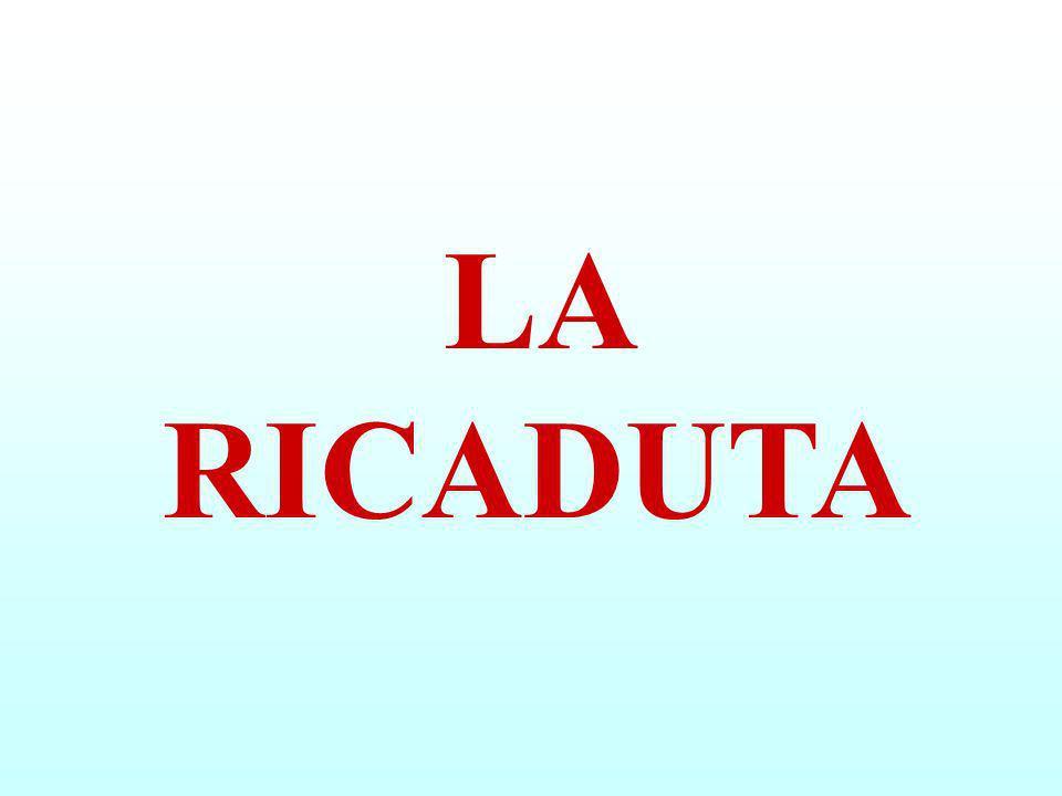 A VOLTE il CAMMINO verso la SOBRIETÀ SI INTERROMPE con la RICADUTA