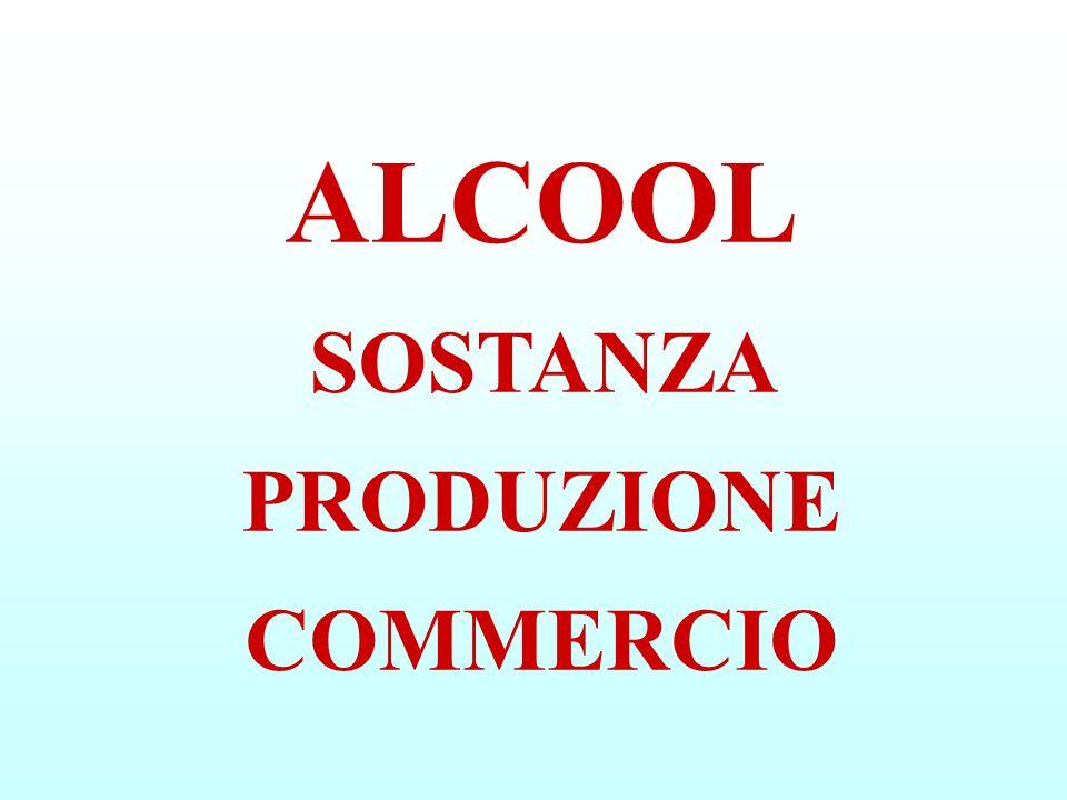 ALCOOL SOSTANZA PRODUZIONE COMMERCIO