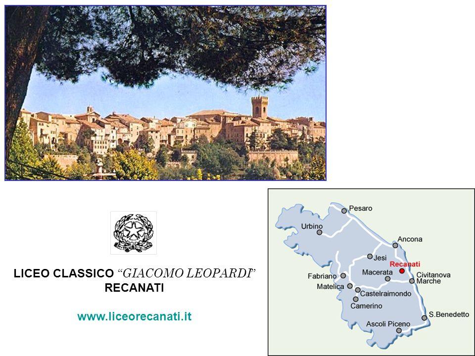 LICEO CLASSICO GIACOMO LEOPARDI RECANATI www.liceorecanati.it