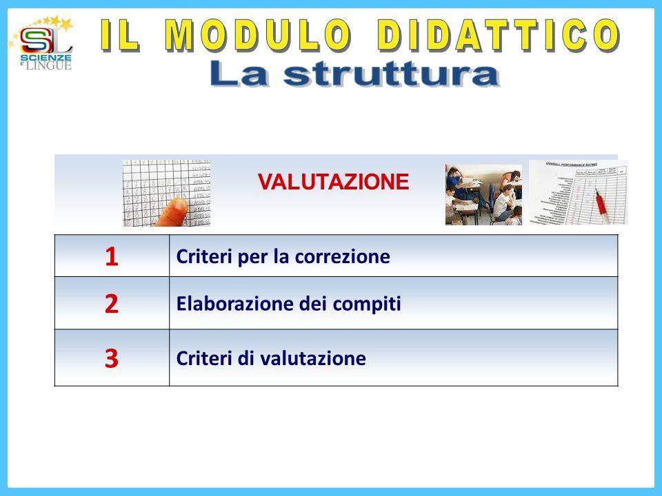 1 Criteri per la correzione 2 Elaborazione dei compiti 3 Criteri di valutazione VALUTAZIONE