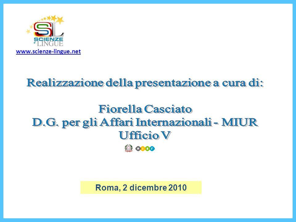 Roma, 2 dicembre 2010 www.scienze-lingue.net