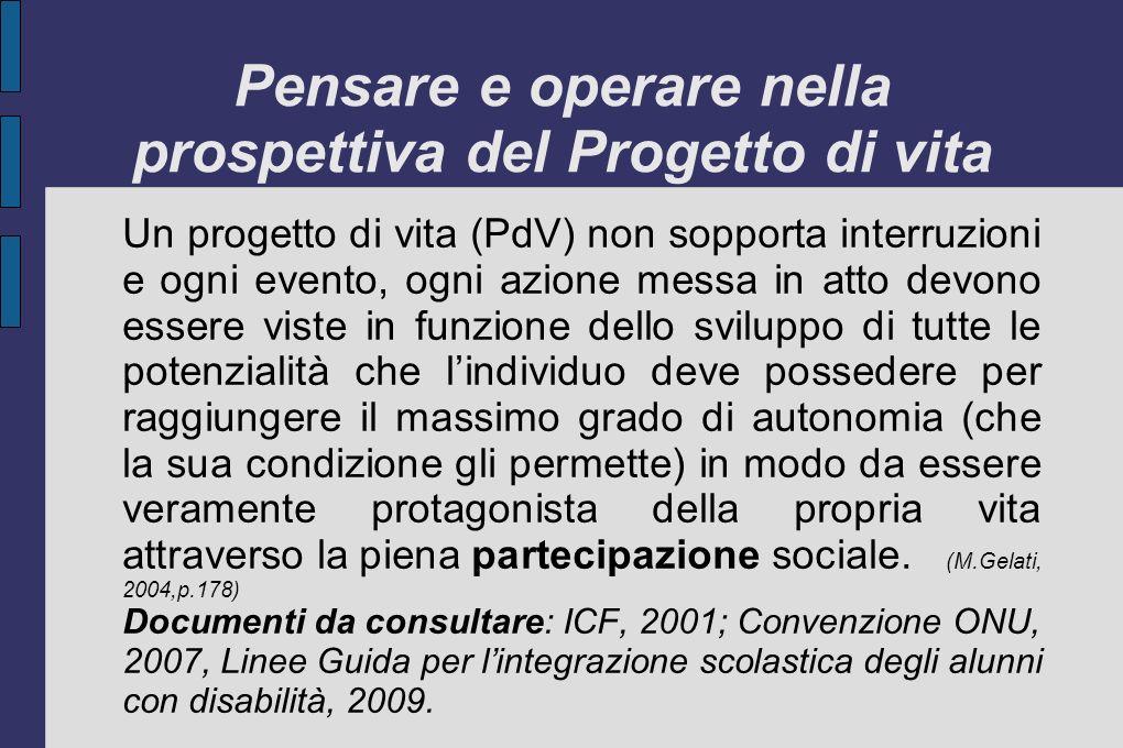 Gestire le integrazioni a scuola (L.DAlonzo, 2008, p.