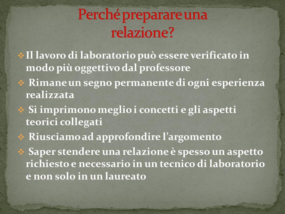 Il lavoro di laboratorio può essere verificato in modo più oggettivo dal professore Rimane un segno permanente di ogni esperienza realizzata Si imprim