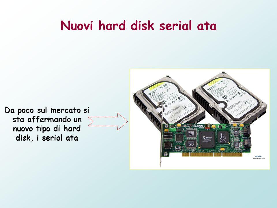 Nuovi hard disk serial ata Da poco sul mercato si sta affermando un nuovo tipo di hard disk, i serial ata