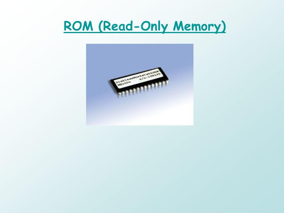 ROM (Read-Only Memory) Memoria a semiconduttore che contiene istruzioni o dati che possono essere letti ma non modificati. Nelluso comune, il termine