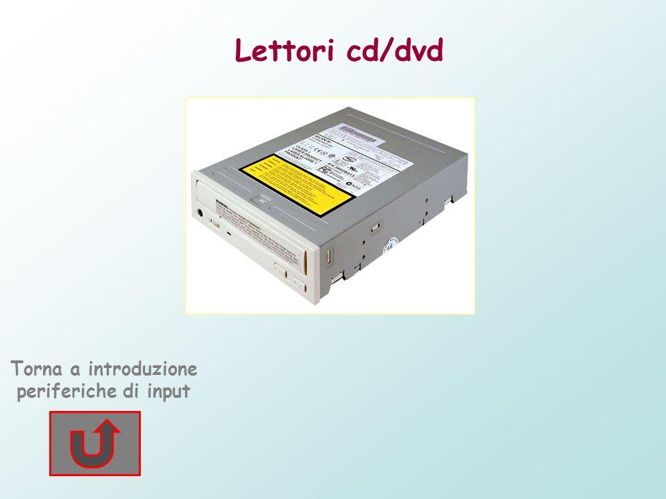 Lettori cd/dvd Questi componenti hardware sono dispositivi presenti ormai in tutti i pc.Permettono la lettura di cd, dvd e dei normali cd audio sia in