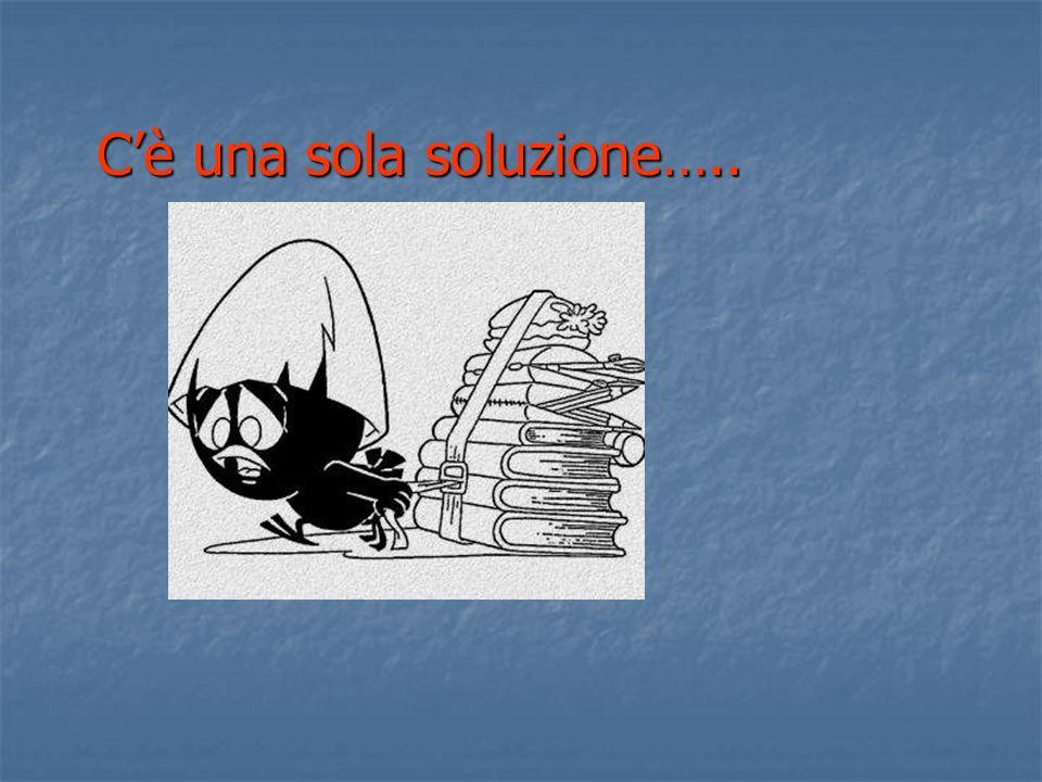 Cè una sola soluzione…..