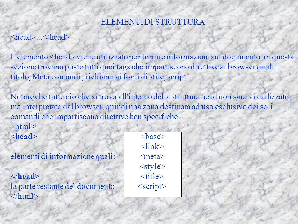 ELEMENTI DI STRUTTURA...