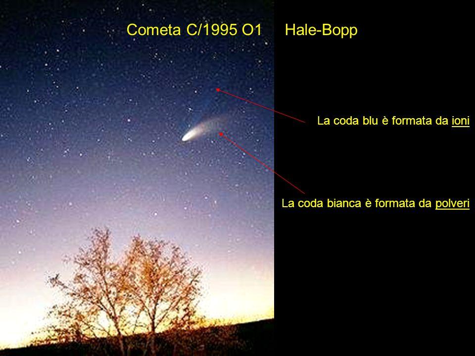 Cometa C/1995 O1 Hale-Bopp La coda blu è formata da ioni La coda bianca è formata da polveri