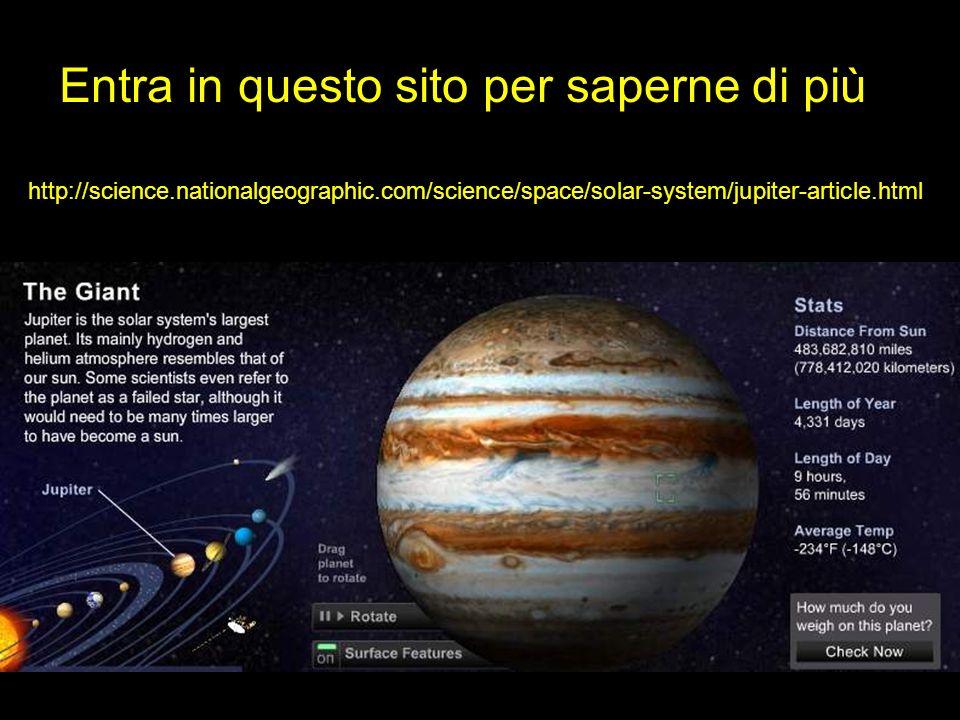 LE LUNE DI GIOVE Giove ha 63 satelliti.
