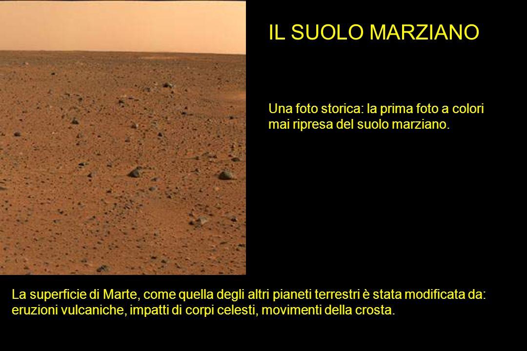 Una foto storica: la prima foto a colori mai ripresa del suolo marziano. IL SUOLO MARZIANO La superficie di Marte, come quella degli altri pianeti ter