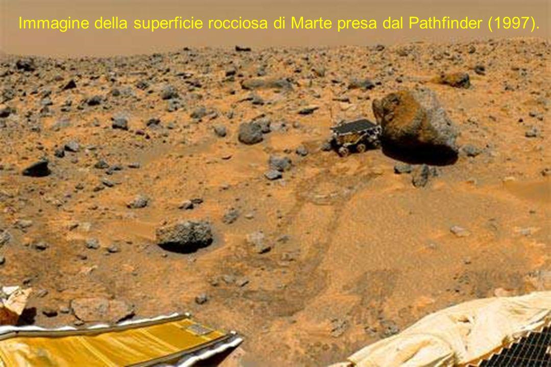 Immagine della superficie rocciosa di Marte presa dal Pathfinder (1997).