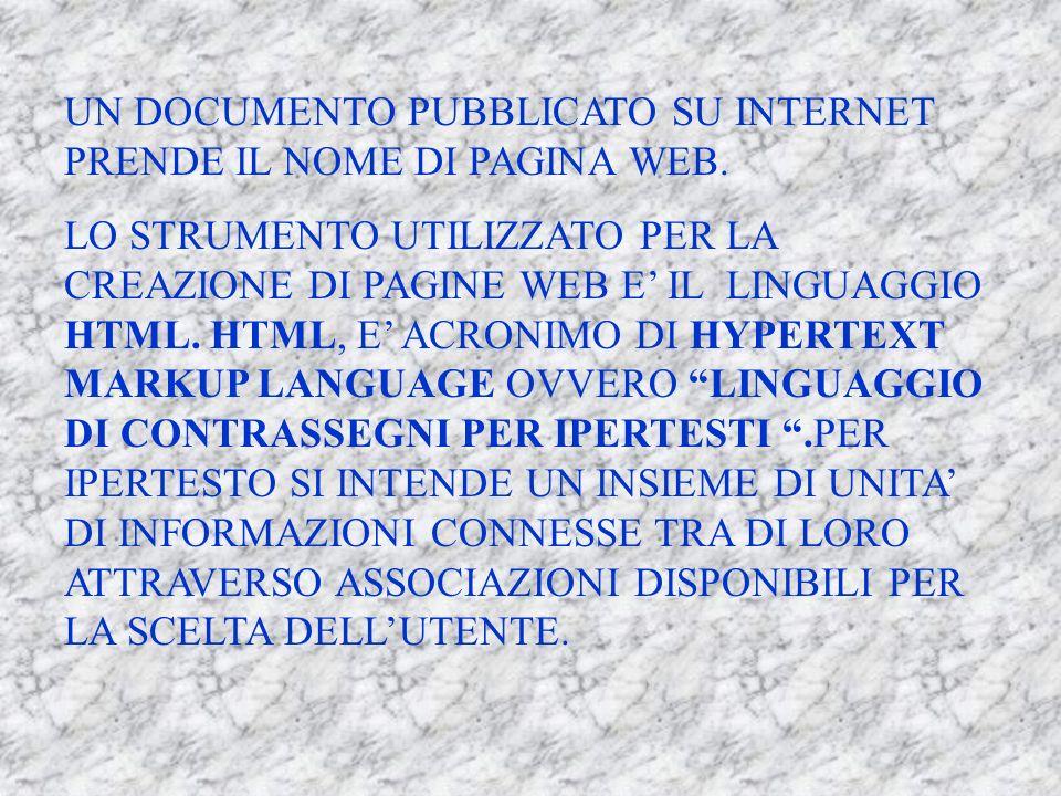LE PAGINE WEB COME SI SA, INTERNET E UN SISTEMA MONDIALE DI RETI DI COMPUTER CHE PERMETTE DI UTILIZZARE UN SISTEMA DI CONNESSIONE TRA COMPUTER.