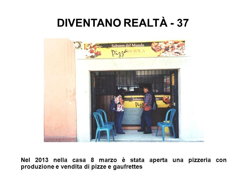Nel 2013 nella casa 8 marzo è stata aperta una pizzeria con produzione e vendita di pizze e gaufrettes DIVENTANO REALTÀ - 37