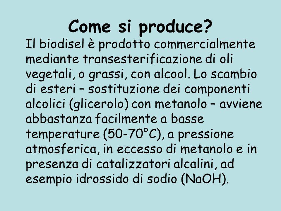 Il biodiesel Il Biodiesel è un prodotto naturale utilizzabile come carburante e come combustibile, con le caratteristiche indicate rispettivamente nel