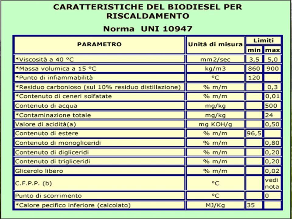 Impieghi del biodiesel Può essere utilizzato: Nellautotrazione (motori diesel). Nel riscaldamento. Il Biodiesel nel riscaldamento può essere utilizzat