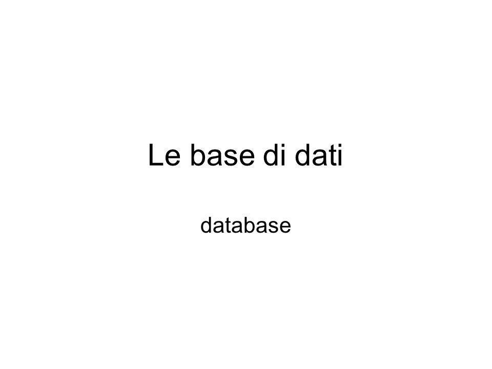 Le base di dati database