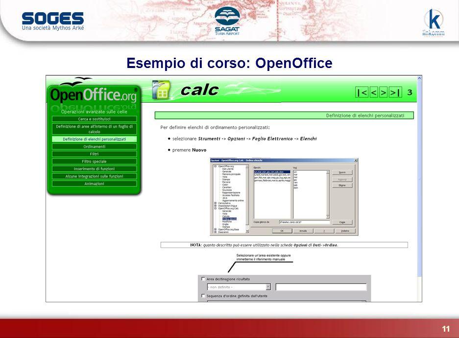 11 Esempio di corso: OpenOffice